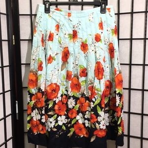 Talbots Floral Skirt Size 8